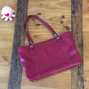 Ann Taylor Red Leather Purse